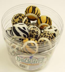 Jungle Print Tennis Balls 24pcs Per Jar - Peazz Pet