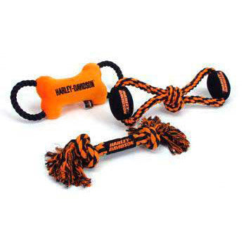 C Harley Davidson Toy - rope Ball Tug - Peazz Pet