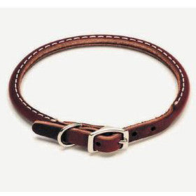 "C Lth Latigo Round Collar 3/8""x10"" - Peazz Pet"