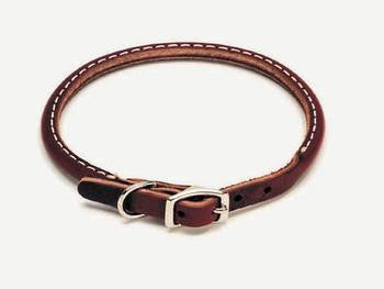 "C Lth Latigo Round Collar 3/8""x14"" - Peazz Pet"
