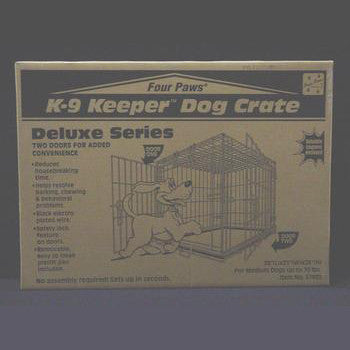K - 9 Keeper Deluxe Crate Dbl Door 30 X 21 X 24 - Peazz Pet