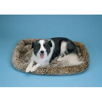 "Prec Snoozy Cheetah Print Bed 51x33"" - Peazz Pet"