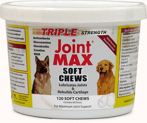 Joint MAX TS (Triple Strength) 120 Soft Chews - Peazz Pet