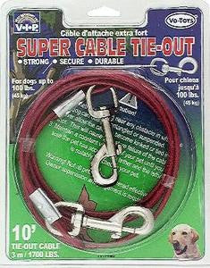 1700lb Tieout Cable 10ft - Peazz Pet