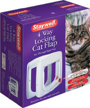 Staywell 4 Way White Cat Flap (300US) - Peazz Pet