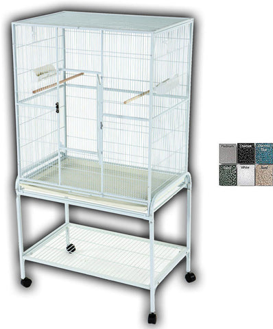 "A&E Cage 13221 White 32""x21"" Flight Cage & Stand - Peazz Pet"