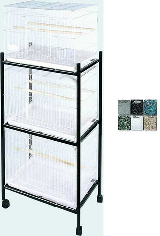A&E Cage 503 Stand-3 Black 3 Tier, Stand for 503 Cages - Peazz Pet
