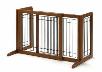 Freestanding Pet Gate Small in Autumn Matte (R94135) - Peazz Pet