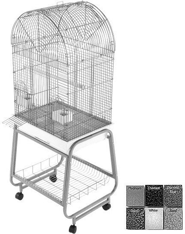 A&E Cage 701 Black Opening Dome Top, Plastic Base, Metal Stand the separates - Peazz Pet