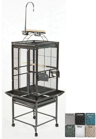 "A&E Cage 8002422 Black 24""x22"" Play Top Cage with 5/8"" Bar Spacing - Peazz Pet"