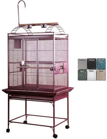 "A&E Cage 8003223 Burgundy 32""x23"" Play Top Cage with 5/8"" Bar Spacing - Peazz Pet"