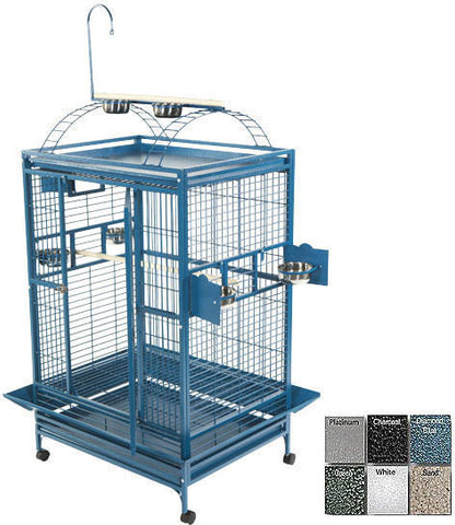 "A&E Cage 8003628 Green 36""x28"" Play Top Cage with 1"" Bar Spacing - Peazz Pet"
