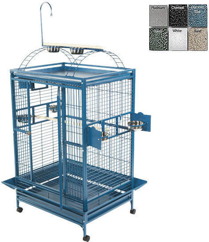 "A&E Cage 8004030 White 40""x30"" Playtop Cage with 1"" Bar Spacing - Peazz Pet"