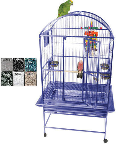 A&E Cage 9002422 Platinum Medium Dome Top Bird Cage - Peazz Pet