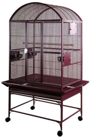 "A&E Cage 9003223 Burgundy 32""x23"" Dome Top Cage with 3/4"" Bar Spacing - Peazz Pet"