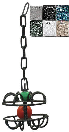 A&E Cage AE013 Sandstone Metal Roller Ball Toy - Peazz Pet