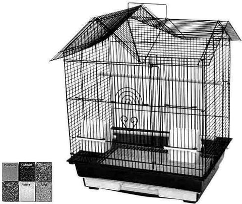 "A&E Cage AE1814H Charcoal 4 Pack of 18""x14"" House Top Cage - Peazz Pet"
