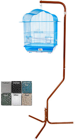 A&E Cage AE29534 Black Tripod Stand for Small Bird Cages - Peazz Pet