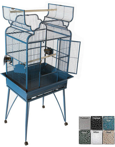"A&E Cage B-2620 White 26""x20"" Victorian open top - Peazz Pet"