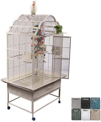 "A&E Cage GC6-3223 Platinum 32""x23"" Opening Victorian Top Cage - Peazz Pet"