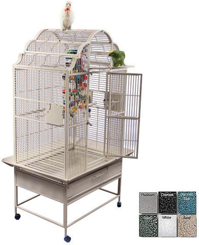 "A&E Cage GC6-3223 White 32""x23"" Opening Victorian Top Cage - Peazz Pet"