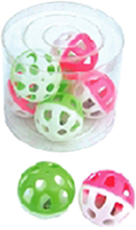 A&E Cage HB41926 Tube of 36 Small Round Rattle Ball Bird Toy - Peazz Pet