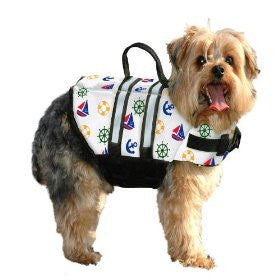 Paws Aboard Large Nautical Dog Life Jackets 50-90 Lb (PA-N1500) - Peazz Pet