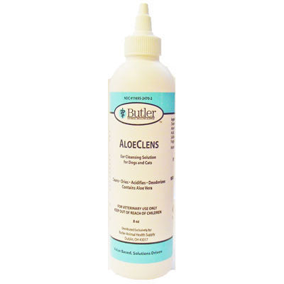AloeClens Ear Cleansing Solution, 8 oz. - Peazz Pet