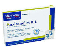 Anxitane M & L (L-Theanine) Chewable Tablets, 30 Count - Peazz Pet