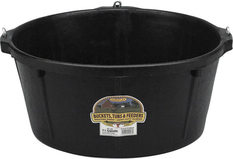 Feeder Tub W- Hooks Black 6.5 Gallon (Hp750) - Peazz Pet