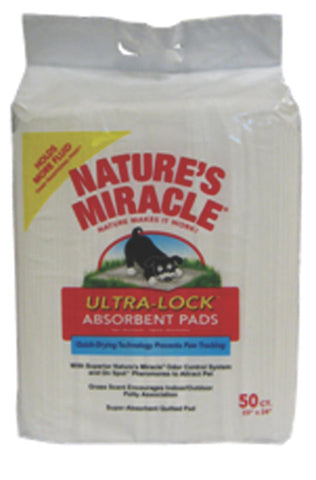 Natures Miracle Lock Absorbent Pads 50 Count (P-5736) -Peazz Pet