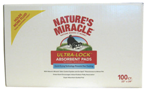 Natures Miracle Ultra Lock Absorbent Pads 100 Count (P-5737) -Peazz Pet
