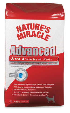 Natural Miracle Advance Ultra Absrbnt Pad 50 Pack (P-5763) - Peazz Pet