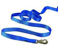 Nylon Lead with Brass Snap - Blue 7 FT (14D BL) - Peazz Pet
