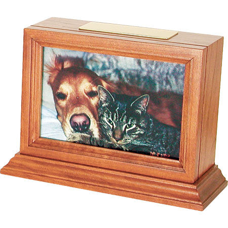 Benton Series Pet Urns (Medium Cherry Finish) - Peazz Pet