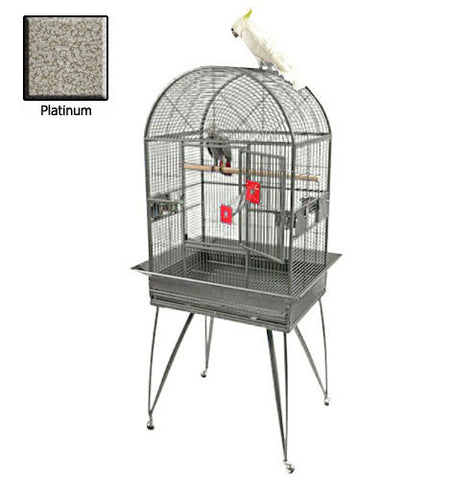 Deluxe Dome Top Bird Cage - Large Platinum - Peazz Pet