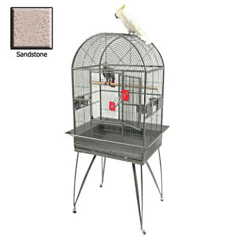 Deluxe Dome Top Bird Cage - Large Sandstone - Peazz Pet