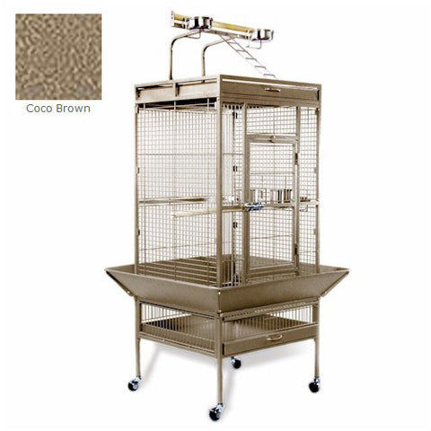Medium Wrought Iron Select Bird Cage - Coco Brown - Peazz Pet