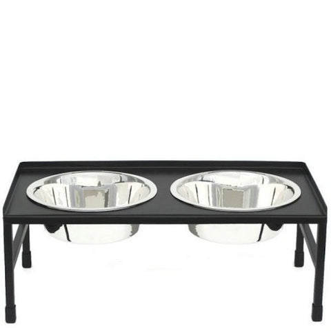 Tray Top Elevated Dog Bowls - Large - Peazz Pet