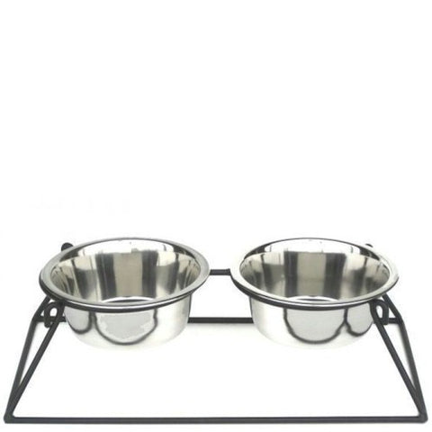Pyramid Elevated Double Dog Feeder - Large - Peazz Pet