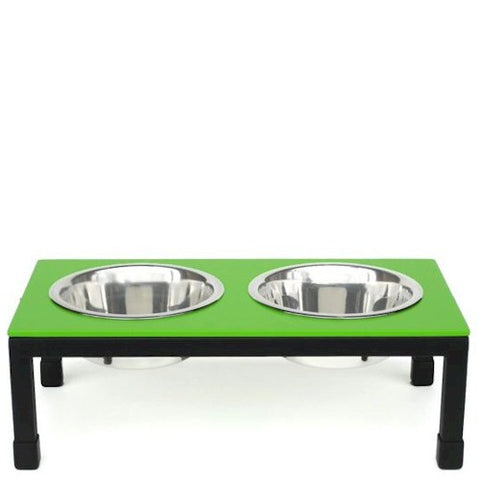 Rendezvous Raised Dog Bowls - Small/Green - Peazz Pet