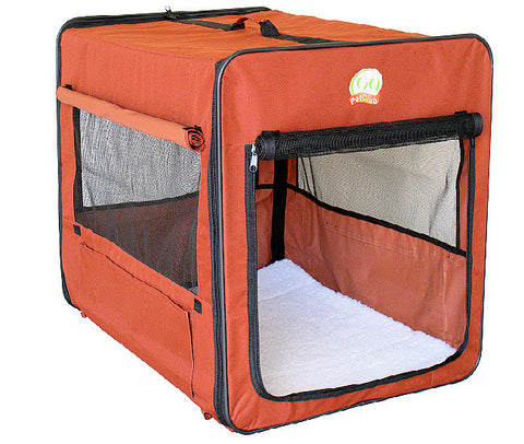 "GoPetClub Brown Soft Crate 18"" (AB18) - Peazz Pet"