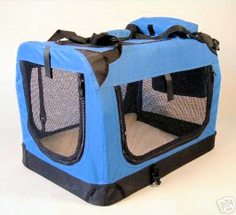 "GoPetClub Soft Crate Blue 28"" (AC28) - Peazz Pet"