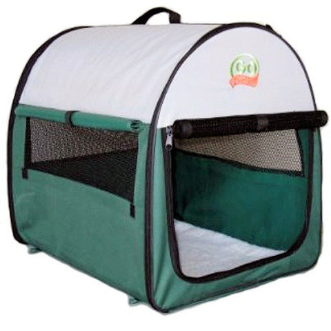 "GoPetClub Soft Crate Green 18"" (AG18) - Peazz Pet"