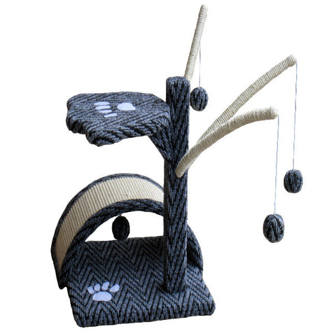 "GoPetClub Cat Tree Furniture Grey Black 22"" (F15) - Peazz Pet"