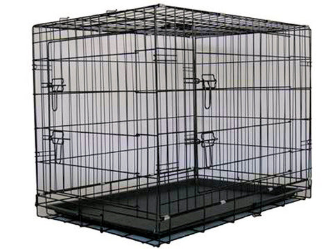 "GoPetClub Wire Cage with Divider 24"" (MLD-24) - Peazz Pet"