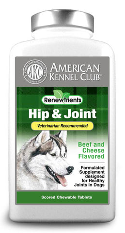 AKC RenewTrients Hip & Joint - 100 Tablet (SuppHip100) - Peazz Pet