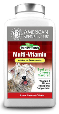 AKC RenewTrients Multi-Vitamin - 100 Tablet (SuppMulti100) - Peazz Pet