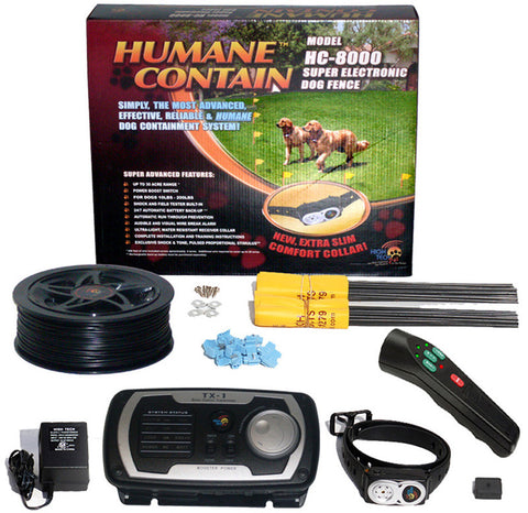 Humane Contain HC8-PT Humane Contain Electronic Fence & Sonic Trainer Combo - Peazz Pet