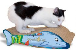 Imperial Cat Animal Scratch 'n Shapes Flip the Dolphin - Peazz Pet